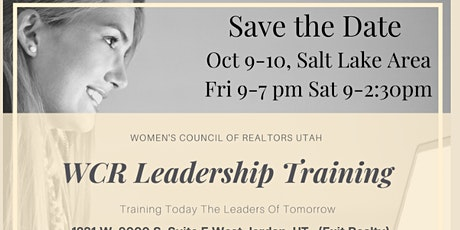 WCR Leadership Orientation and Training tickets