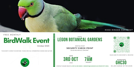 October Bird Walk 2020 tickets
