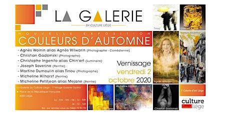 """Soirée de vernissage de la nouvelle exposition """"Couleurs d'automne"""" tickets"""