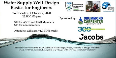 Water Supply Well Design Basics Webinar| +1 PDH | EWRI ASCE and EWB-FL tickets