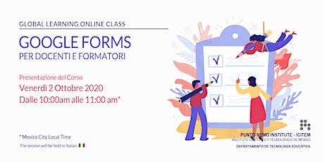 Google Forms 2020 per Docenti e Formatori biglietti