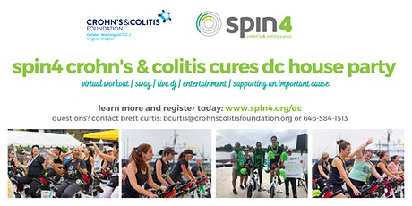 spin4 crohn's & colitis cures dc house party tickets