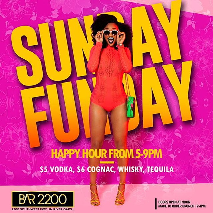 Sunday Funday @ Bar 2200 | Brunch |Mimosas | Hookah | Live Dj | Happy Hour image