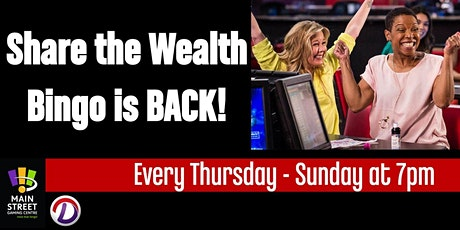 Share the Wealth Bingo tickets