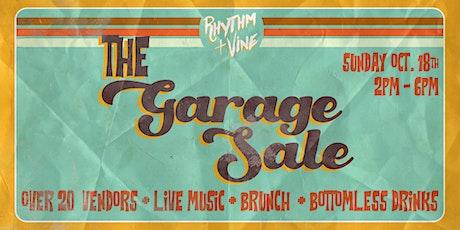 The Garage Sale At Rhythm + Vine! tickets