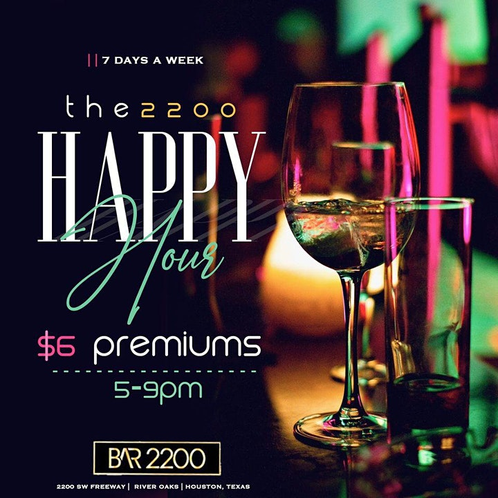 Tuesday's at Bar 2200  | Free Entry | Food | Hookah | Happy Hour | Music image