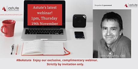 Unique webinar with John McCarthy, OBE on mental resilience. tickets