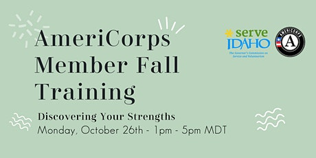 Discovering Your Strengths   Fall Member Training tickets