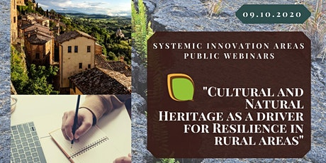 Cultural and Natural Heritage as a driver for Resilience in rural areas tickets