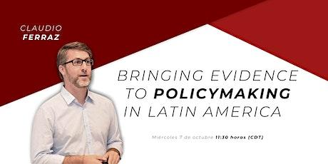 Claudio Ferraz - Bringing Evidence to Policymaking in Latin America entradas