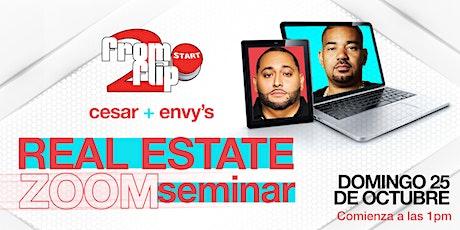 Seminario VIRTUAL Real Estate de Cesar & DJ Envy ESPAÑOL PARTE 4 tickets