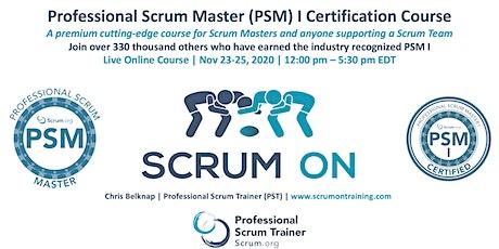 Scrum.org Professional Scrum Master (PSM) I - Live Online  Nov 23-25, 2020 tickets