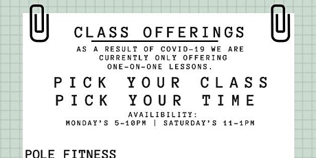 Pole Fitness Class tickets