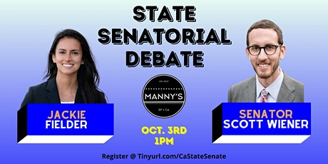 Senator Scott Wiener & Jackie Fielder State Senate Debate hosted by Manny's tickets