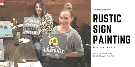 Rustic Sign Painting tickets