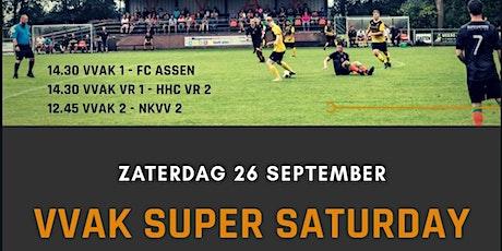Competitie wedstrijden 26 sept VVAK 1, 2 en Vrouwen 1 tickets