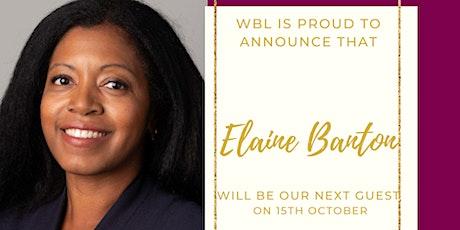 Success starts with inspiration. WBL webinar featuring Elaine Banton. tickets