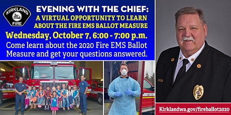 An Evening w/the Chief: An opportunity to learn about the Fire & EMS Ballot ingressos
