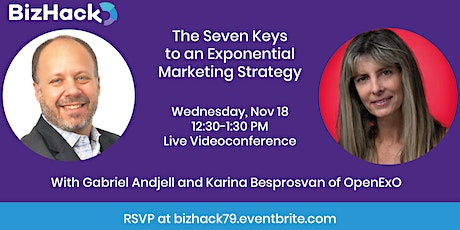 The Seven Keys to an Exponential Marketing Strategy tickets