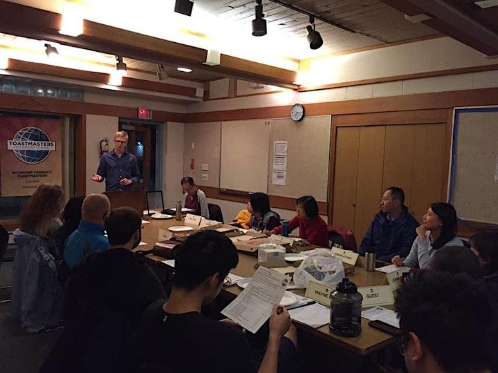 Richmond Friendly Toastmasters Meetings image