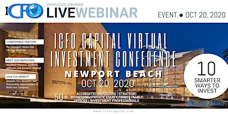 Live Web Event: The iCFO Virtual Investor Conference -   Newport Beach, CA tickets