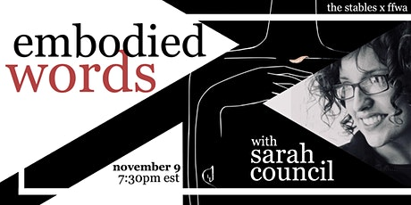 Embodied Poetry with Sarah Council tickets