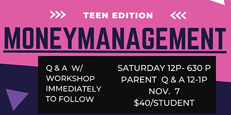 Money Management-Teen Edition Nov 2020 tickets