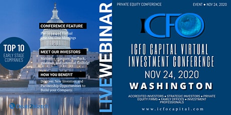 Live Web Event: The iCFO Virtual Investor Conference -   Washington, DC tickets