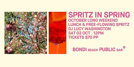 Spritz in Spring on Bondi Beach tickets