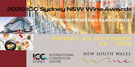 2020 ICC Sydney NSW Wine Awards Presentation Luncheon tickets