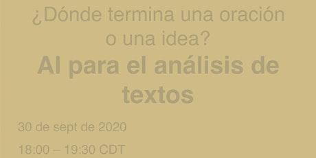 ¿Dónde termina una oración o una idea? AI para  el análisis de textos entradas
