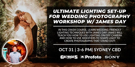 Ultimate Lighting Set-up for Wedding Photography Workshop with James Day tickets