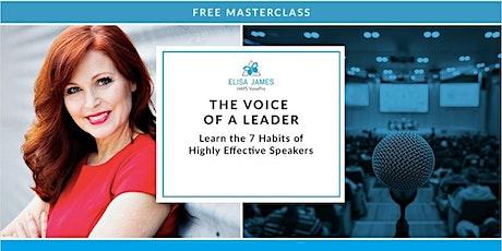 The Voice of a Leader - Public Speaker Training (Free  Webinar) tickets