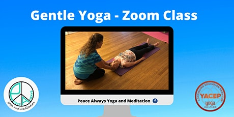 Gentle Yoga - 60 min. Zoom class tickets