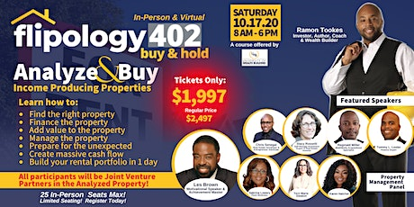 Flipology 402: Buy & Hold - October 17, 2020 tickets