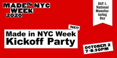 Made in NYC Week 2020 Kickoff Party tickets