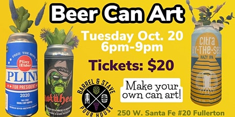 Beer Can Art Class at Barrel & Stave tickets