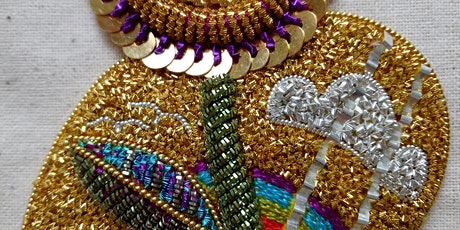 Mary Brown - 2 Day Embroidery Workshop - Goldwork Flower Couture Applique tickets