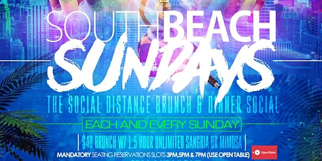 SOUTH BEACH SUNDAYS Brunch & Dinner Experience  #VegasWorld tickets
