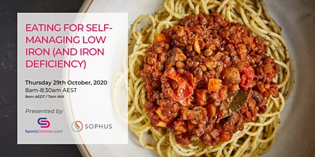Eating for Self-Managing Low Iron (and Iron Deficiency) tickets