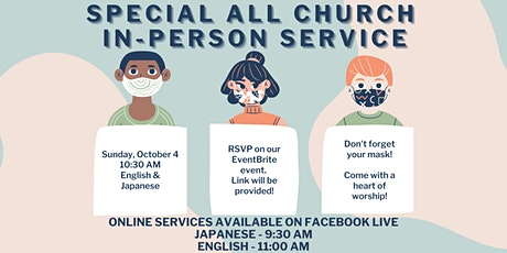 Rise OC All Church In-Person Service (English and Japanese) tickets