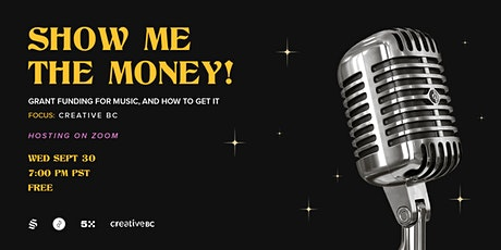Show me the Money - Grant funding for music, and how to get it tickets