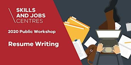 Skills & Jobs Centre | Resume Writing Workshop | ONLINE ZOOM WORKSHOP tickets