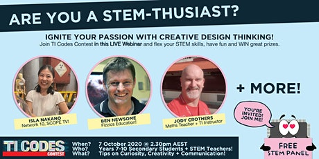 Are you a STEM-thusiast? Ignite your passion with creative design thinking! tickets