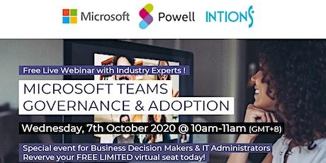 Microsoft Teams Governance & Adoption Free Webinar tickets