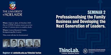Professionalising the Family Business | Developing the Next Gen of Leaders tickets