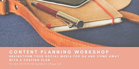 Q4 Content Planning Workshop tickets