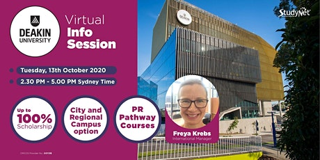 Virtual Info Session with Deakin University tickets