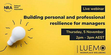 FREE WEBINAR | Building personal and professional resilience for managers tickets