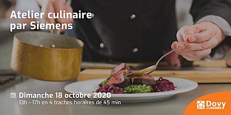Atelier culinaire par Siemens le 18/10 - Dovy Tirlemont billets